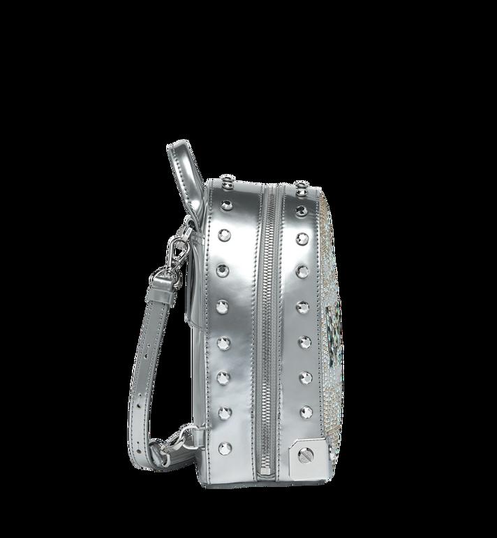 MCM Stark Bebe Boo 馬賽克水晶雙肩背包 Silver MWK9SMS01SB001 Alternate View 3