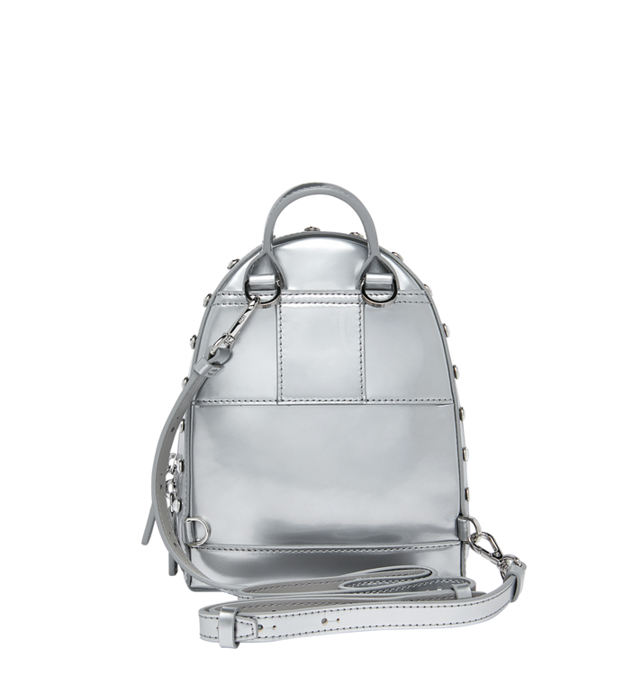 MCM Stark Bebe Boo Backpack in Mosaic Crystal Silver MWK9SMS01SB001 Alternate View 6