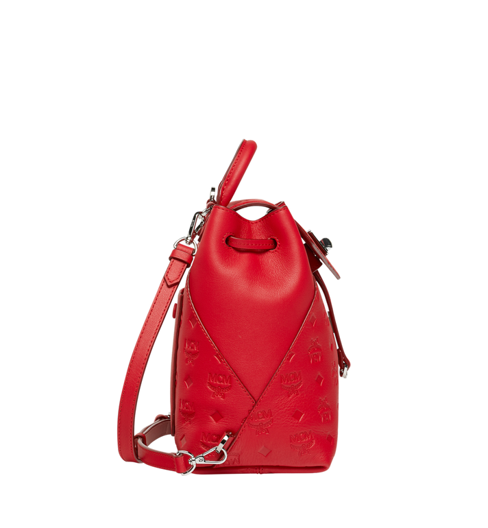 MCM Essential Rucksack aus Leder mit Monogramm Red MWK9SSE03RJ001 Alternate View 3
