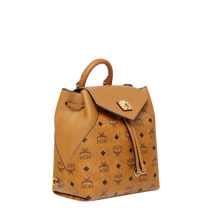 MCM Essential Rucksack aus Visetos Original Cognac MWK9SSE05CO001 Alternate View 2