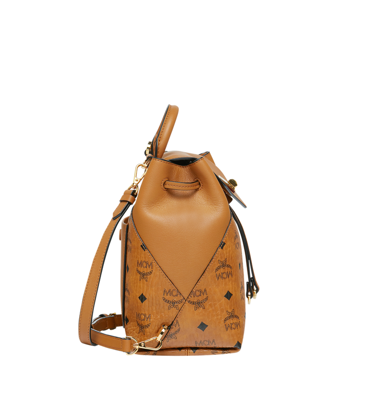 MCM Essential Rucksack aus Visetos Original Cognac MWK9SSE05CO001 Alternate View 3
