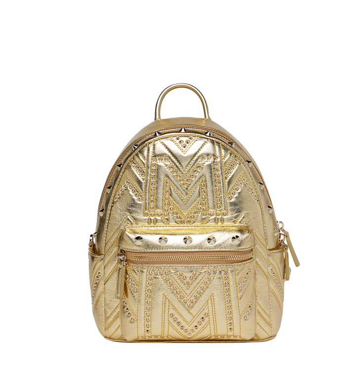 MCM Stark Rucksack in Quilted Studs Alternate View
