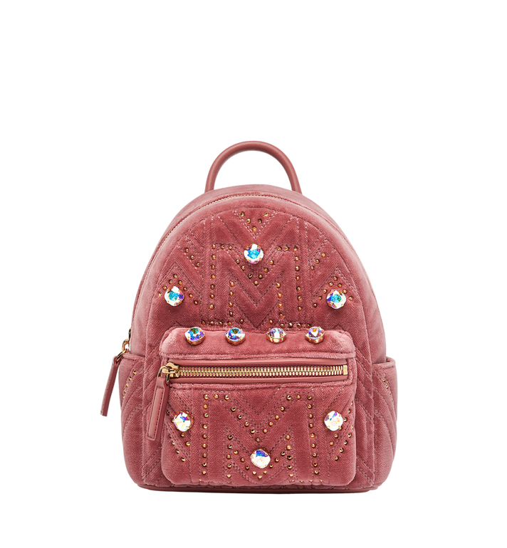 MCM Stark Bebe Boo Rucksack in Velvet Crystal Studs Alternate View