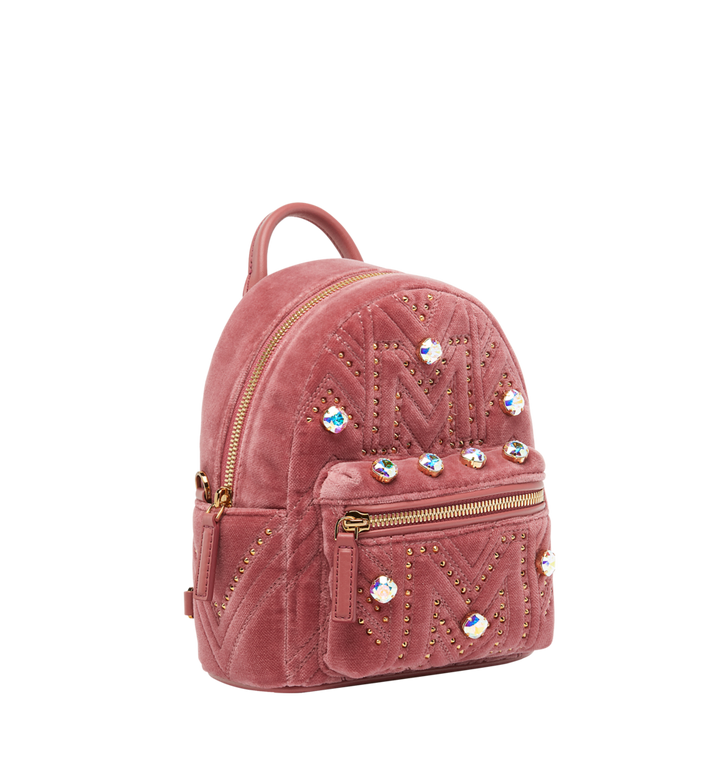 MCM Stark Bebe Boo Rucksack in Velvet Crystal Studs Alternate View 2