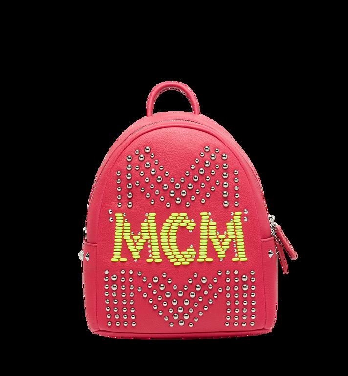 MCM Stark Neon Studded Rucksack aus Leder Alternate View