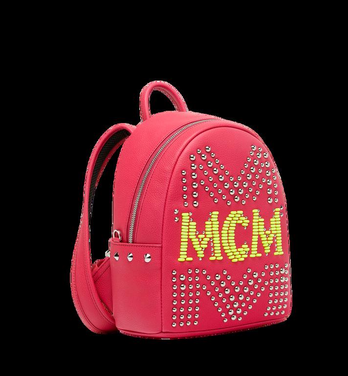 MCM Stark Neon Studded Rucksack aus Leder Alternate View 2