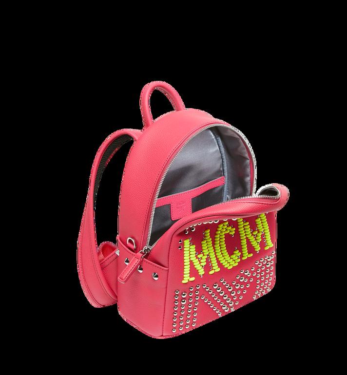 MCM Stark Neon Studded Rucksack aus Leder Alternate View 5
