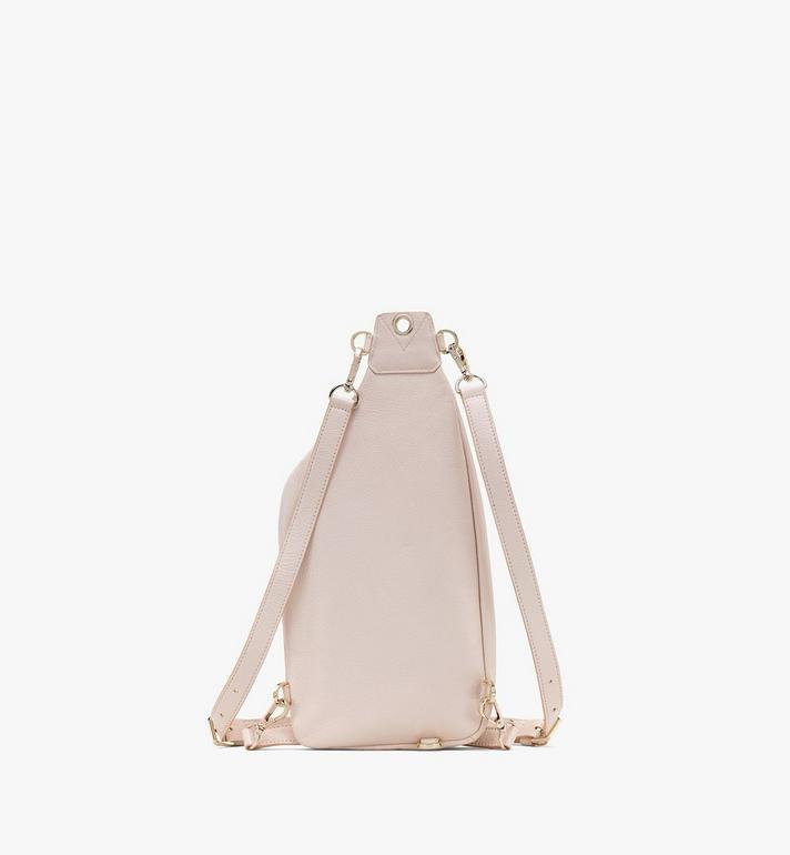 MCM Milano Backpack in Goatskin Leather Pink MWKASDA01IH001 Alternate View 3