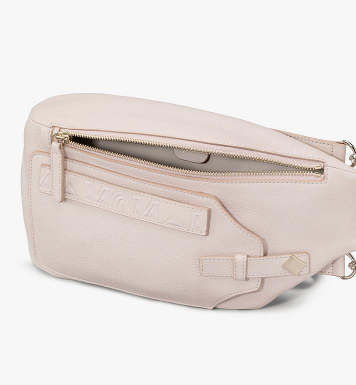 MCM Milano Backpack in Goatskin Leather Pink MWKASDA01IH001 Alternate View 4