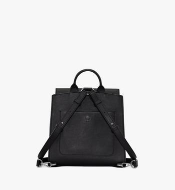 MCM Essential Backpack in Monogram Leather Black MWKASSE01BK001 Alternate View 3