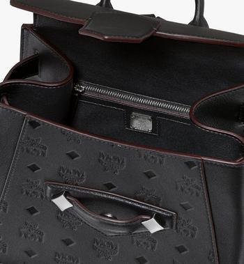 MCM Essential Backpack in Monogram Leather Black MWKASSE01BK001 Alternate View 4