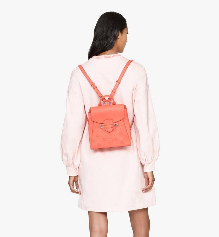 MCM Essential 花押字圖案皮革背包 Orange MWKASSE01O3001 Alternate View 6