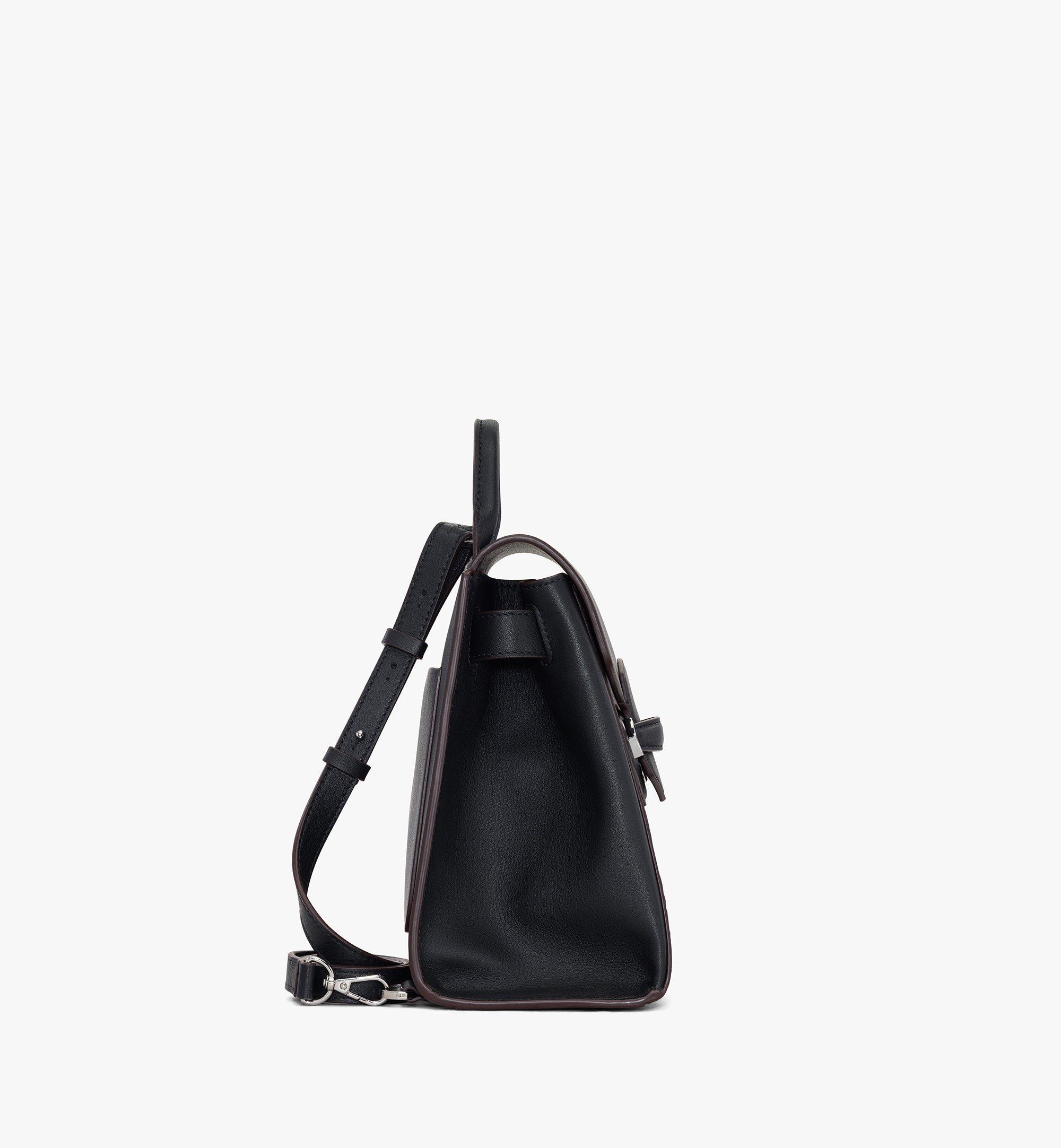 MCM Essential Backpack in Visetos Original Black MWKASSE02BK001 Alternate View 2