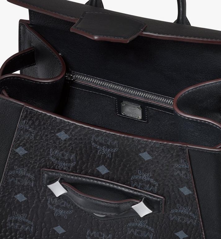 MCM Essential Backpack in Visetos Original Black MWKASSE02BK001 Alternate View 4