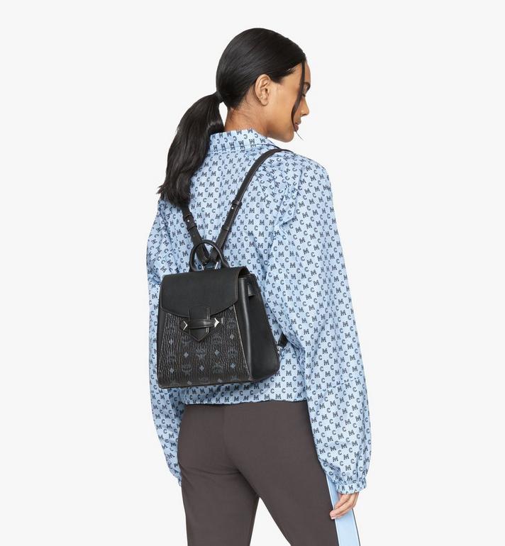 MCM Essential Backpack in Visetos Original Black MWKASSE02BK001 Alternate View 6