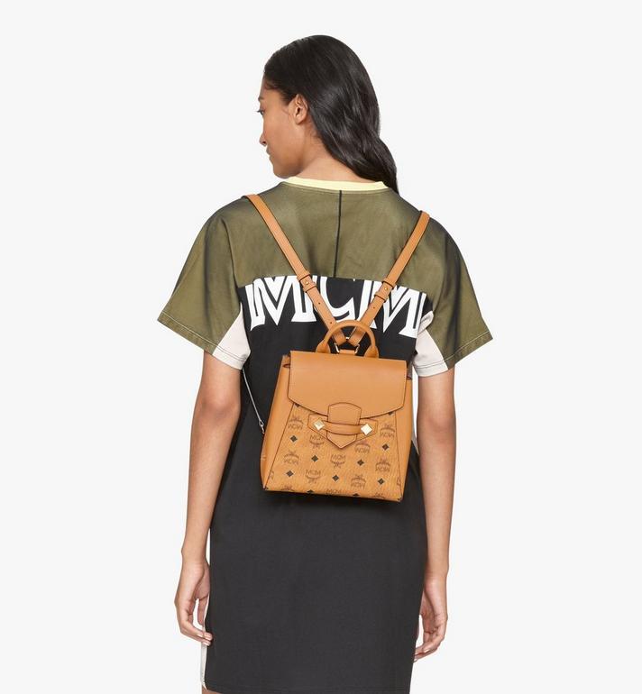 MCM Essential Backpack in Visetos Original Cognac MWKASSE02CO001 Alternate View 6
