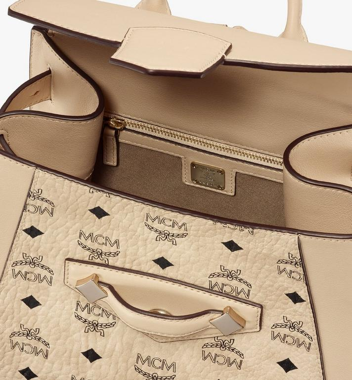 MCM Essential Backpack in Visetos Original Beige MWKASSE02IG001 Alternate View 4