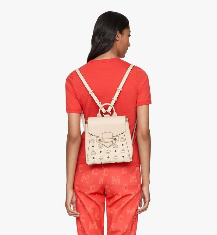 MCM Essential Backpack in Visetos Original Beige MWKASSE02IG001 Alternate View 6