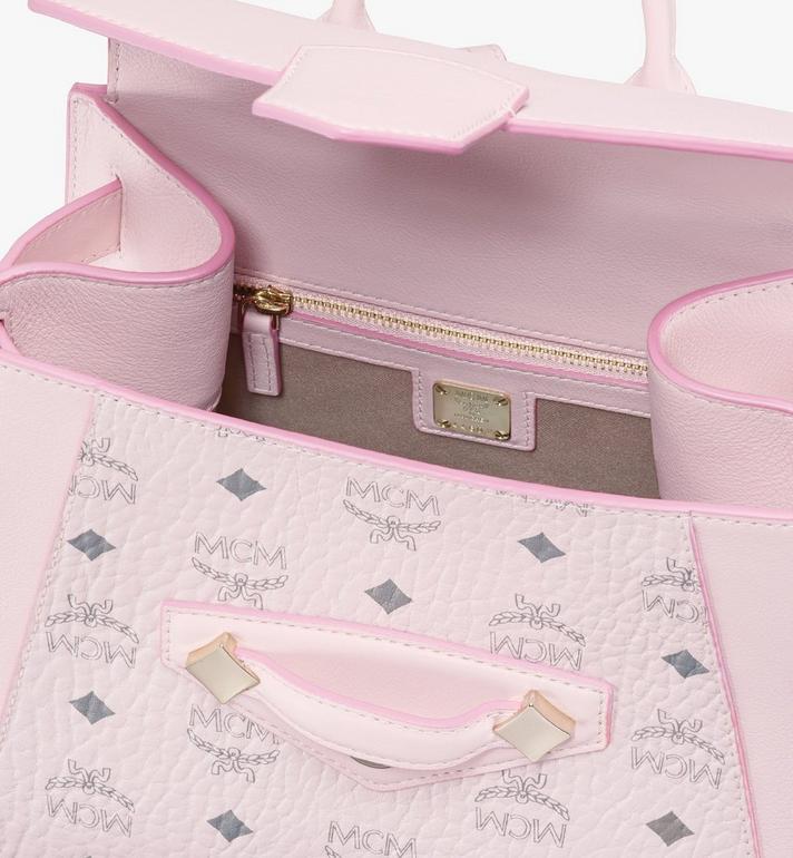 MCM Essential Backpack in Visetos Original Pink MWKASSE02QH001 Alternate View 4