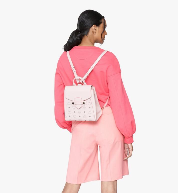 MCM Essential Backpack in Visetos Original Pink MWKASSE02QH001 Alternate View 5