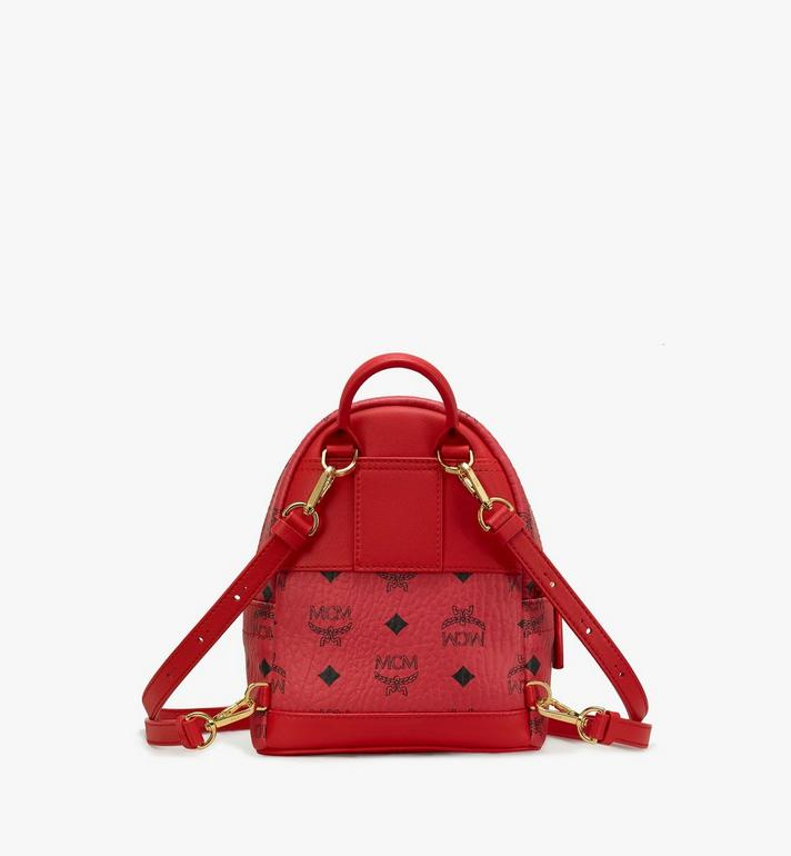 MCM Year Of The Mouse Stark Backpack in Visetos Red MWKASVE04RJ001 Alternate View 3