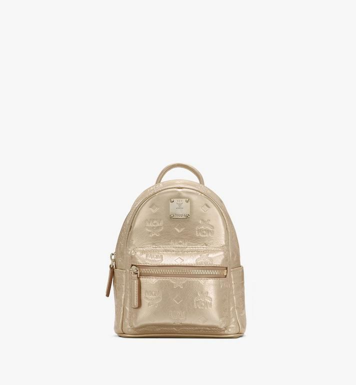 MCM Stark Bebe Boo Backpack in Monogram Leather Alternate View