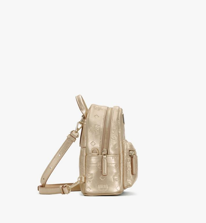 MCM Stark Bebe Boo Backpack in Monogram Leather Gold MWKASVE05T1001 Alternate View 2