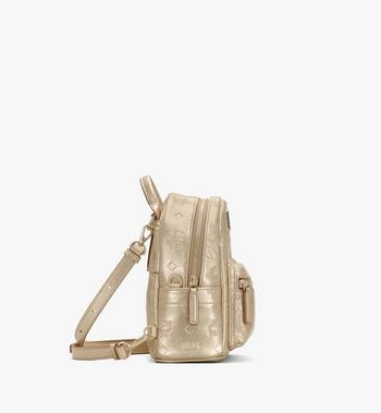 MCM Stark Backpack in Monogram Leather Gold MWKASVE05T1001 Alternate View 2