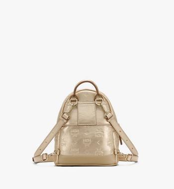 MCM Stark Backpack in Monogram Leather Gold MWKASVE05T1001 Alternate View 3