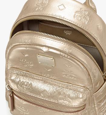 MCM Stark Backpack in Monogram Leather Gold MWKASVE05T1001 Alternate View 4