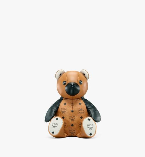 Visetos 系列皮革混合 MCM Zoo 小熊背包