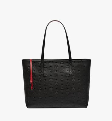 Klara Top Zip Shopper in Monogram Leather