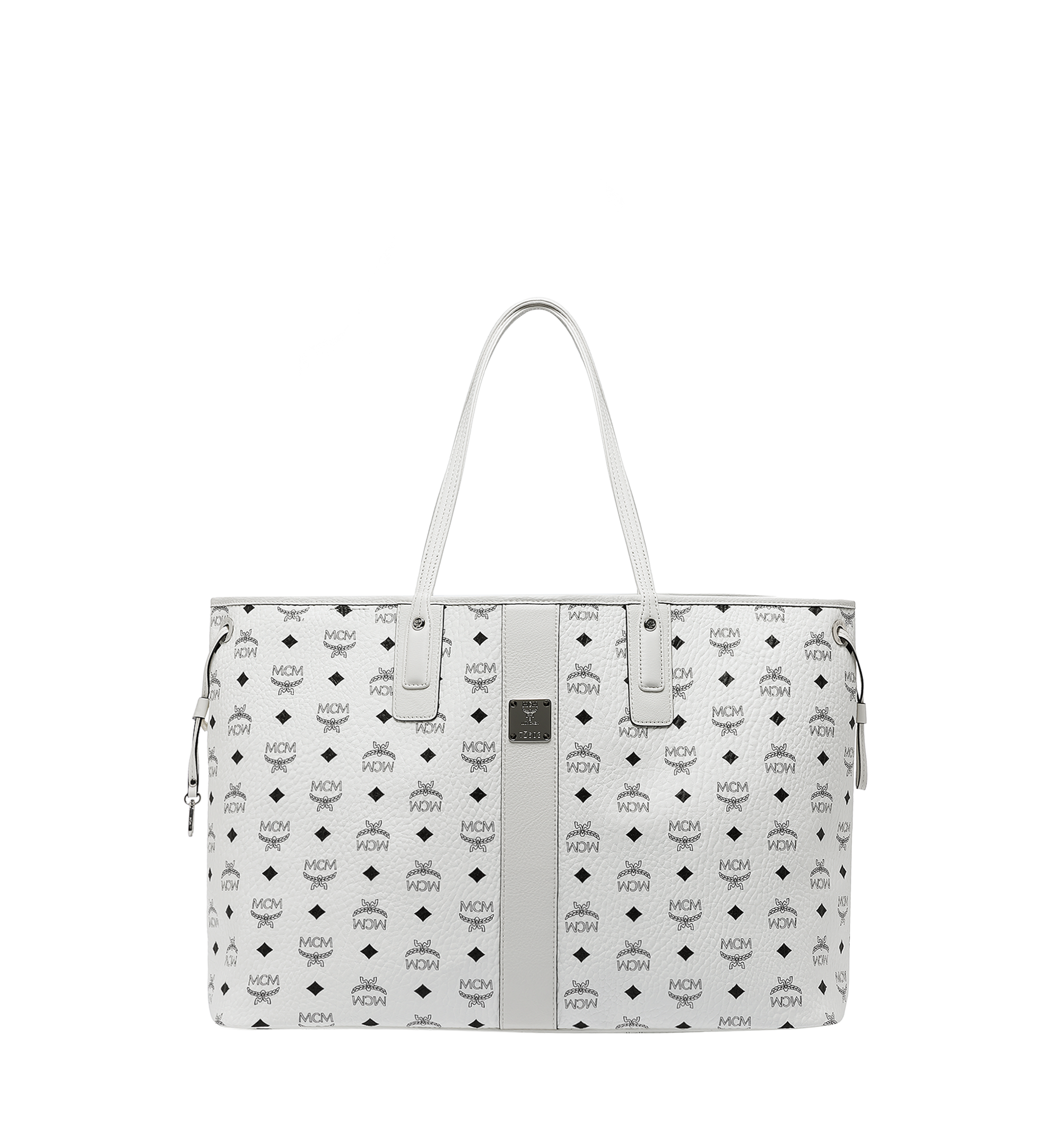 MCM Reversible Liz Shopper in Visetos White MWP7AVI21WT001 Alternate View 1