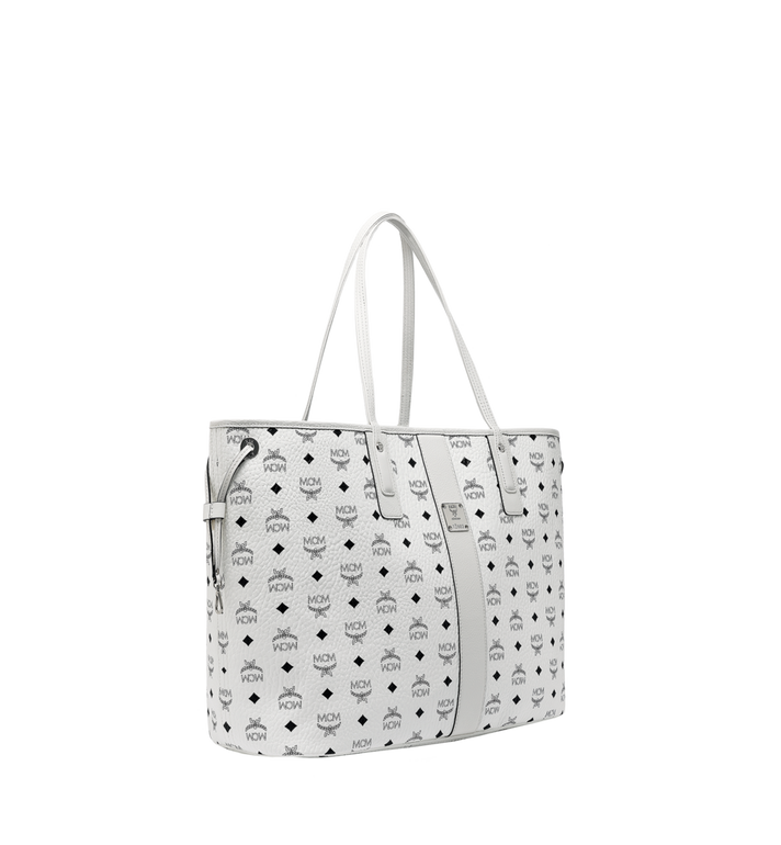 MCM Sac cabas réversible Liz en Visetos White MWP7AVI21WT001 Alternate View 2
