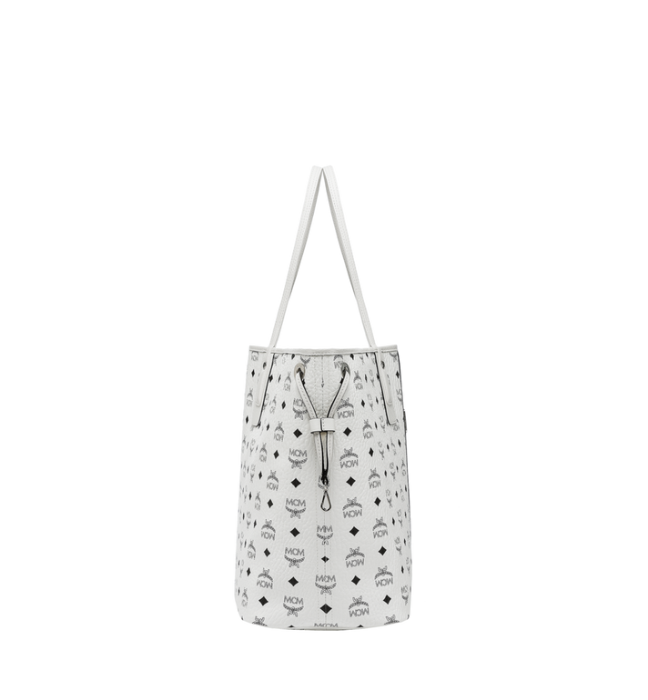 MCM Reversible Liz Shopper in Visetos White MWP7AVI21WT001 Alternate View 3