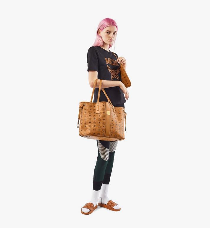 MCM Reversible Liz Shopper in Visetos Cognac MWP7AVI22CO001 Alternate View 6