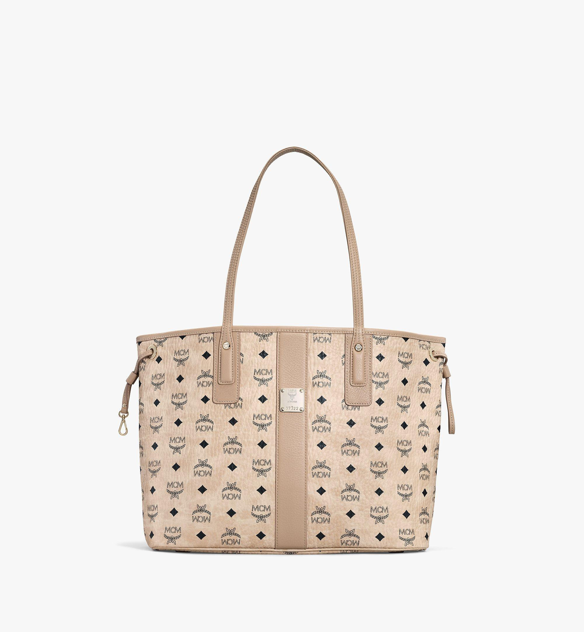 MCM Liz Reversible Shopper Medium in beige mit Rechnung