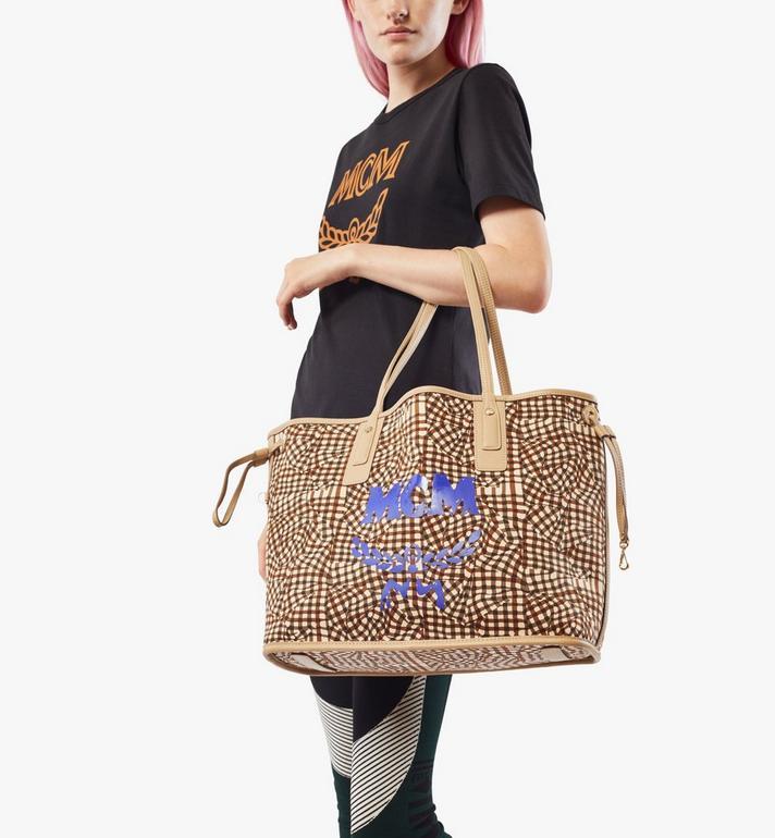 MCM Reversible Liz Shopper in Visetos Beige MWP7AVI22IG001 Alternate View 9