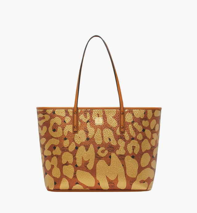 Anya Top Zip Shopper in MCM Leopard Print
