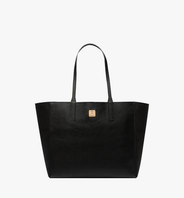 Reversible Koppelene Shopper in Metallic Leather