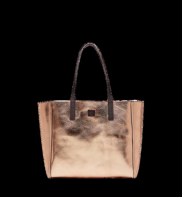 MCM Reversible Koppelene Shopper in Metallic Leather Alternate View 5