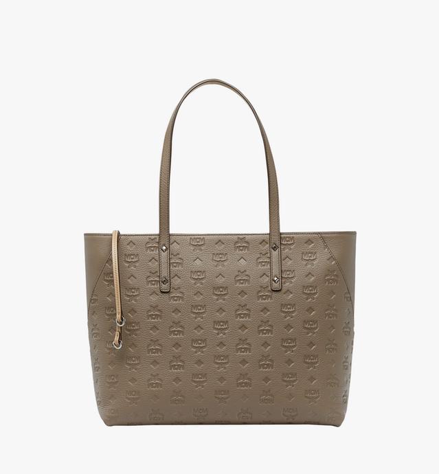 Klara Monogram Leather 系列顶部拉链购物袋