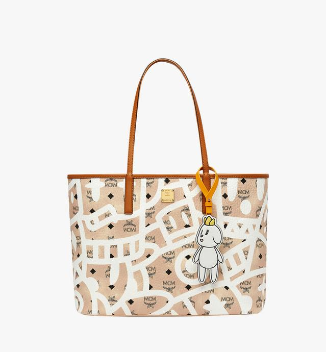 MCM x Eddie Kang Reversible Shopper in Visetos