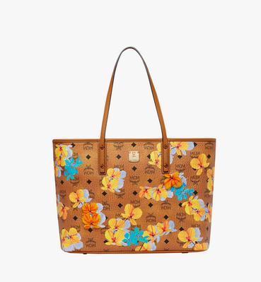 Essential Top Zip Shopper in Floral Print Visetos
