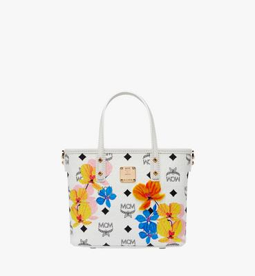 Essential Top Zip Shopper in Floral Print Visetos