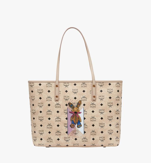 Rabbit Top Zip Shopper in Visetos