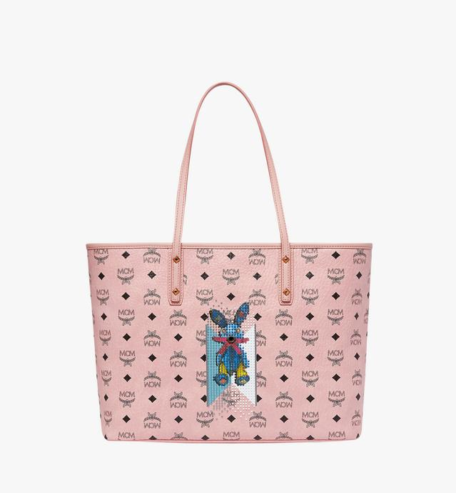 Rabbit Top Zip Shopper in Visetos