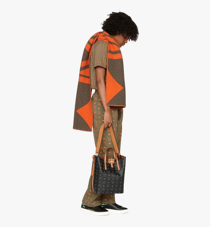MCM Gunta Shopper in Visetos Black MWP9AGU02BK001 Alternate View 6