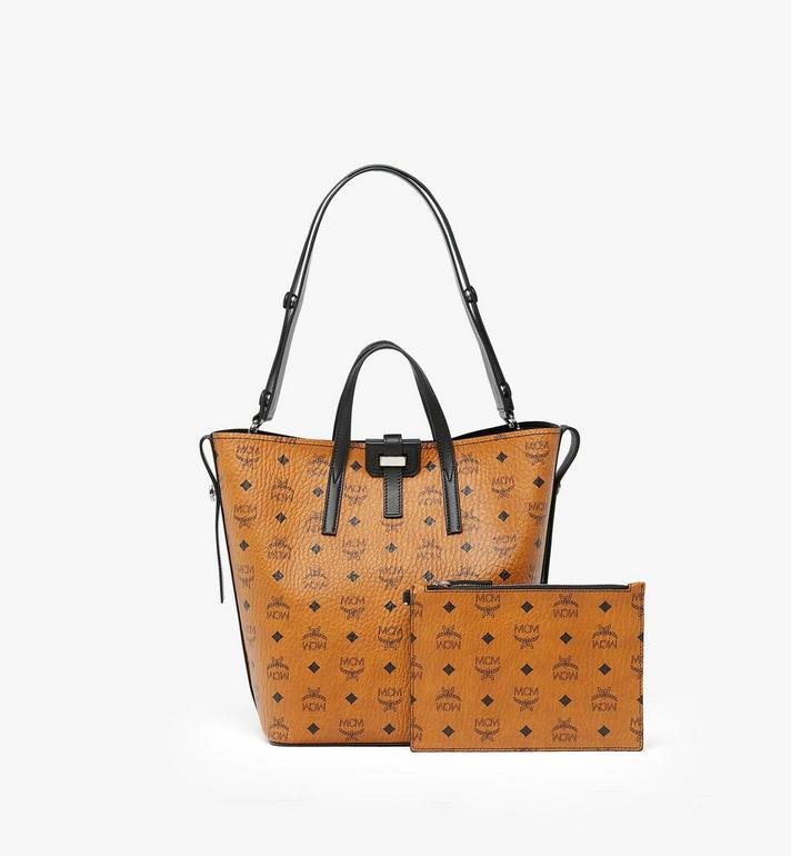 MCM Gunta Shopper in Visetos Cognac MWP9AGU02CO001 Alternate View 2