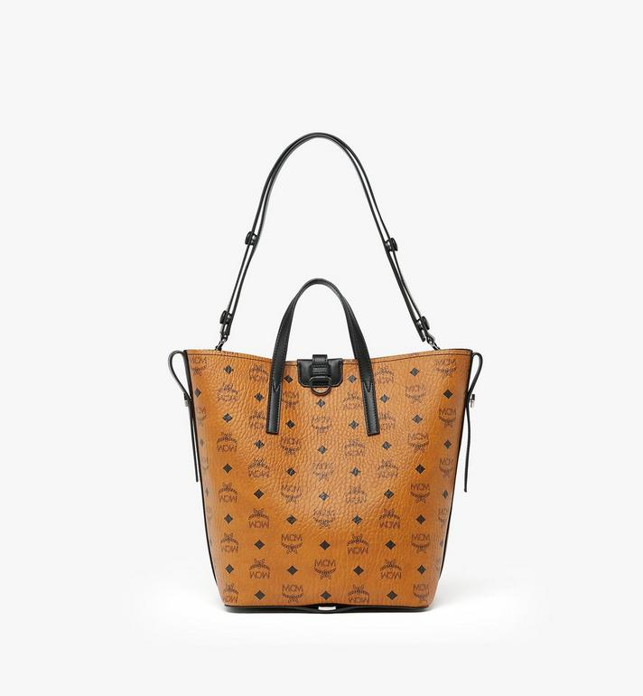 MCM Gunta Shopper in Visetos Cognac MWP9AGU02CO001 Alternate View 4